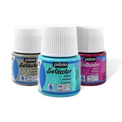 Sétacolor tissus clairs pailletés